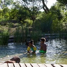 Children in the pool, Munga Eco Lodge